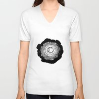 tree rings V-neck T-shirts featuring Tree Rings by vogel