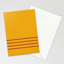 Orange and Red Thin 4 Stripe Pattern Rustoleum 2021 Color of the Year Satin Paprika Harvest Peach Stationery Cards