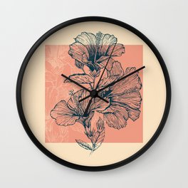 Hibiscus Colors Wall Clock