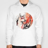 okami Hoodies featuring Okami by Rubis Firenos