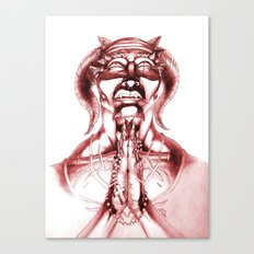 Prayer (Red) Canvas Print