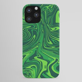 Green emerald abstract marble iPhone Case