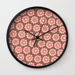A cupcake full of love pattern wall art print Wall Clock