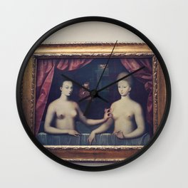 """Gabrielle d'Estrées and one of her sisters"" Wall Clock"