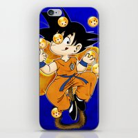 goku iPhone & iPod Skins featuring Goku by Ana del Valle Store