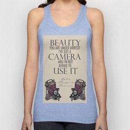 Say Cheese! collection: vintage folding camera Unisex Tank Top