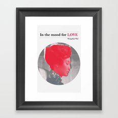 In the mood for love Framed Art Print