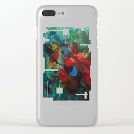 Cosmic Analysis No.1 Clear iPhone Case