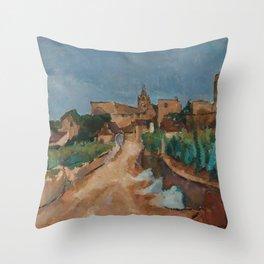 Anton Faistauer - Street towards Dürnstein (1913) Throw Pillow