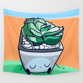 Sleepy Succulent Wall Tapestry