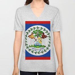 Fancy Flag: Belize Unisex V-Neck