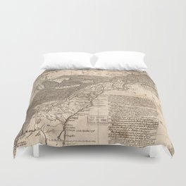 British and French Settlements of America (1755) Duvet Cover