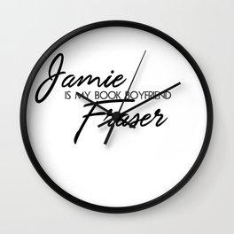 Jamie Fraser Book Boyfriend Wall Clock