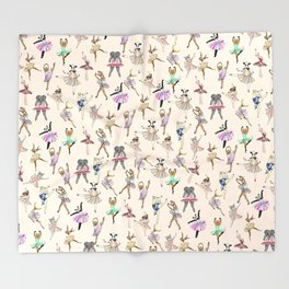Animal Ballet Hipsters LV Throw Blanket
