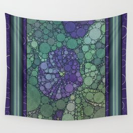 Percolated Purple Potato Flower Wall Tapestry