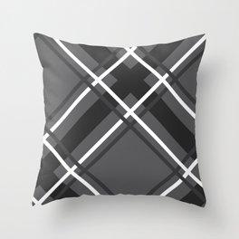 Jumbo Scale Men's Plaid Pattern Throw Pillow