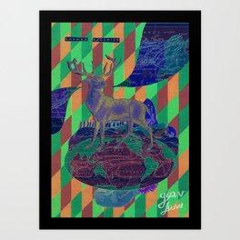 Sahara algerien Art Print