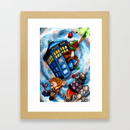 Muppet Who - The eleventh doctor. Framed Art Print