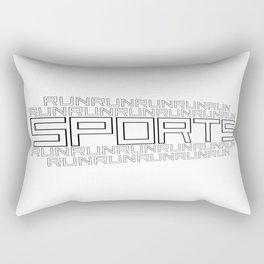 Run for relaxation, pleasure, health... white Rectangular Pillow