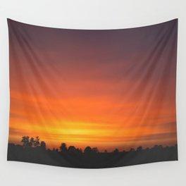 SUNRISE - SUNSET - ORANGE SKY - PHOTOGRAPHY Wall Tapestry