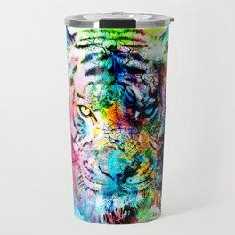 colorful tiger Travel Mug