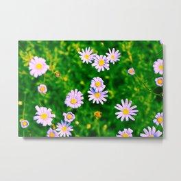 Hypercolor Purple Flowers Metal Print