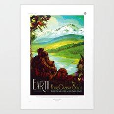 NASA/JPL Poster (Earth) Art Print