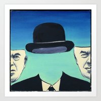 magritte Art Prints featuring Magritte by Lois Brand