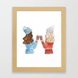 besties Framed Art Print
