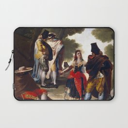 "Francisco Goya ""The Maja and the Cloaked Men or A Walk through Andalusia"" Laptop Sleeve"