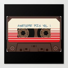 awesome mix vol 1 new hot 2018 CD love cute sticker cover iphone pattern casate art support design Canvas Print