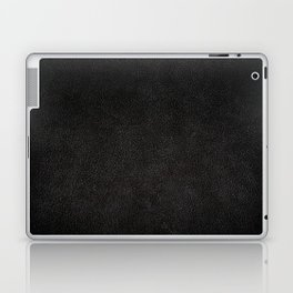 Dark black leather sheet texture abstract Laptop & iPad Skin