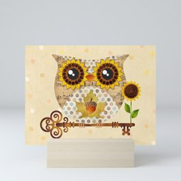 Owl's Autumn Song Mini Art Print