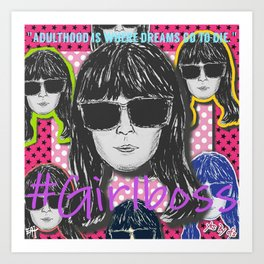 (Girl Boss - Britt Robertson) - yks by ofs珊 Art Print