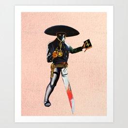 Sissor Leg Bandit Art Print