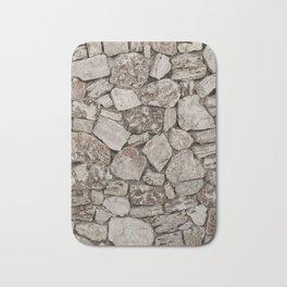 Old Rustic Stone Wall Bath Mat