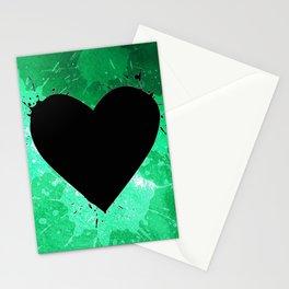 Elegant watercolor splash heart Stationery Cards