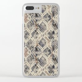 Snakeskin. Clear iPhone Case