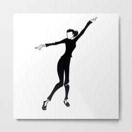 Funny Face 05 • Fashion Illustration   Audrey Hepburn Metal Print