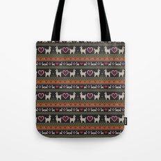 Llama Love Knit Tote Bag