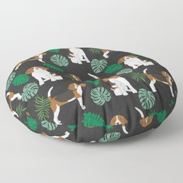 beagle tropical monstera summer dog breed gifts pure breed pets Floor Pillow