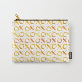 xoxo Watercolor Yellow Orange Carry-All Pouch