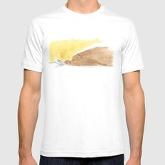 Bear is tired of fish Mens Fitted Tee MEDIUM White