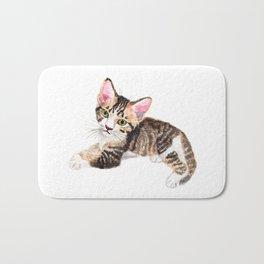 Brown Tabby Baby Cat Bath Mat