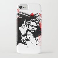 beethoven iPhone & iPod Cases featuring Beethoven FU by viva la revolucion