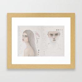 Sketchbook Study & poetry Framed Art Print