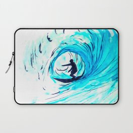 Surfer in blue Laptop Sleeve