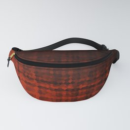 Black red mosaic Fanny Pack