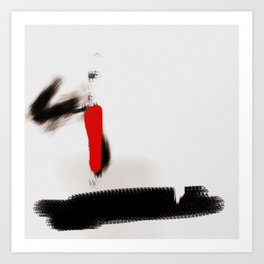 abstract art red Art Print