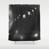 solar system Shower Curtains featuring the solar system. by Galaxy Dreams